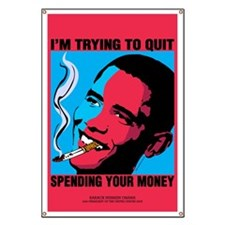 Obama Trying To Quit Banner