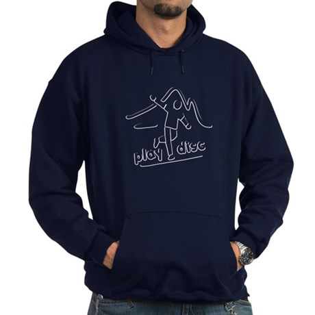 Disc Golf Launch White Hoodie (dark)