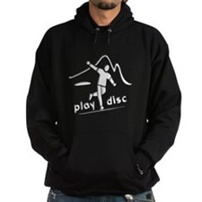 Disc Golf Launch B&W Hoodie