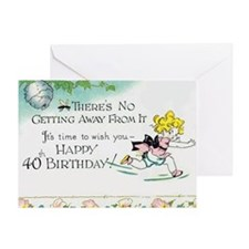 Cute 40th birthday Greeting Card
