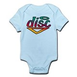 Disc Golf Text Shape1 Infant Bodysuit