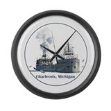 The Charlevoix, Michigan Large Wall Clock