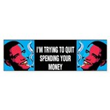 Obama Trying To Quit Bumper Sticker (10 pk)