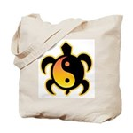Gold Yin Yang Turtle Tote Bag