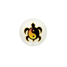 Gold Yin Yang Turtle Mini Button (100 pack)