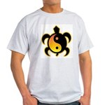 Gold Yin Yang Turtle Light T-Shirt