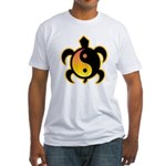 Gold Yin Yang Turtle Fitted T-Shirt