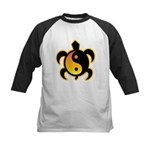 Gold Yin Yang Turtle Kids Baseball Jersey