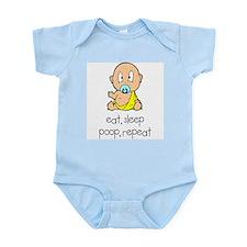 Eat, Sleep, Poop, Repeat Infant Creeper