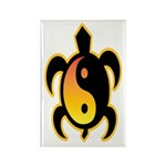 Gold Yin Yang Turtle Rectangle Magnet (10 pack)