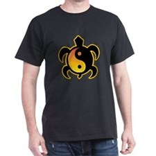 Gold Yin Yang Turtle T-Shirt