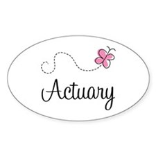Cute Actuary Oval Decal