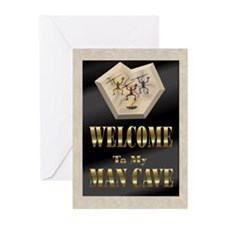 Man Cave Greeting Cards (Pk of 20)