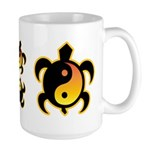 Gold Yin Yang Turtle Large Mug