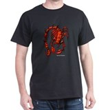 Red Rock Scorpion (Front) Black T-Shirt