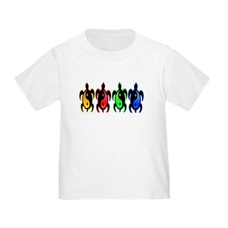 Multicolor Yin Yang Turtles Toddler T-Shirt