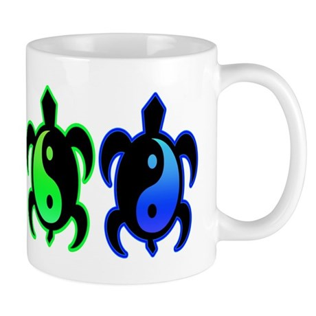 Multicolor Yin Yang Turtles Mug