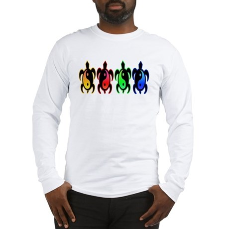 Multicolor Yin Yang Turtles Long Sleeve T-Shirt
