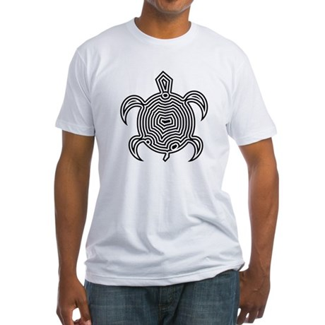 Labyrinth Turtle Fitted T-Shirt