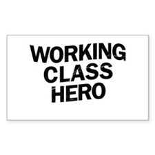 Working Class Hero Rectangle Sticker 50 pk)