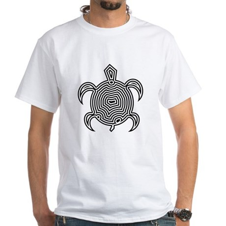 Labyrinth Turtle White T-Shirt