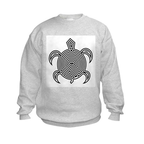 Labyrinth Turtle Kids Sweatshirt