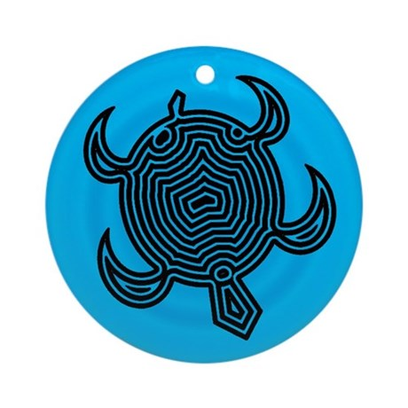 Labyrinth Turtle Ornament (Round)