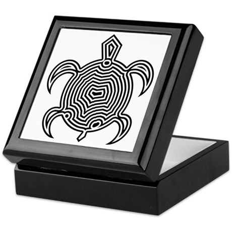 Labyrinth Turtle Keepsake Box