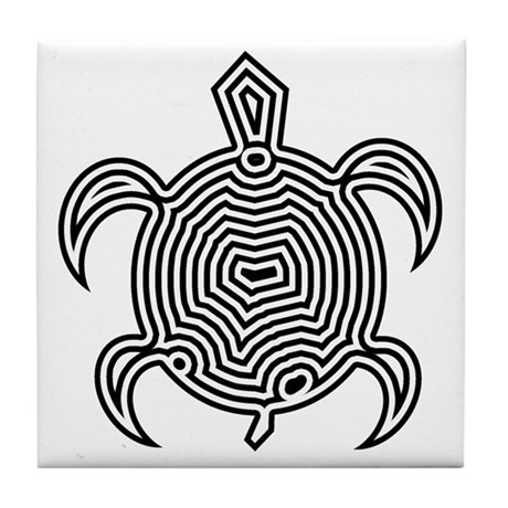 Labyrinth Turtle Tile Coaster