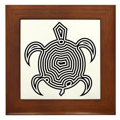 Labyrinth Turtle Framed Tile