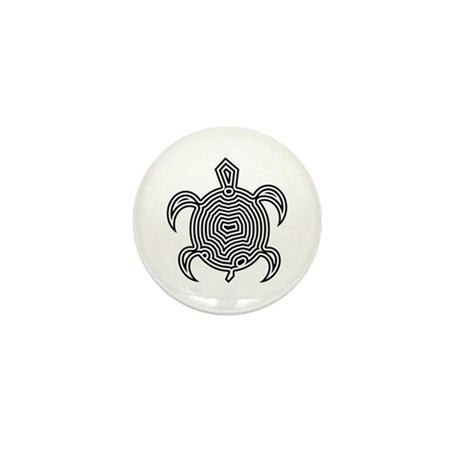 Labyrinth Turtle Mini Button (10 pack)