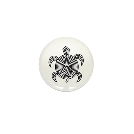 Labyrinth Turtle Mini Button