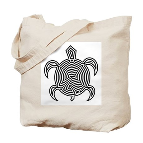 Labyrinth Turtle Tote Bag