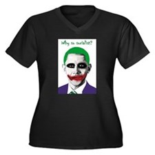 Obama - Why So Socialist? Women's Plus Size V-Neck