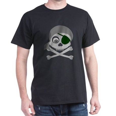 Gray Pirate Skull Dark T-Shirt