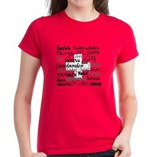 Swiss Cantons Flag Women's Red T-Shirt