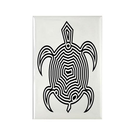 Labyrinth Turtle Rectangle Magnet