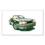 Mustang 87-93 RWB5spd Rectangle Sticker 10 pk)