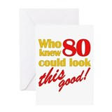 Funny 80th Birthday Gag Gifts Greeting Card