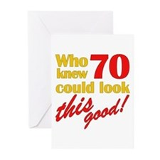 Funny 70th Birthday Gag Gifts Greeting Cards 10 pk