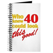 Funny 40th Birthday Gag Gifts Journal