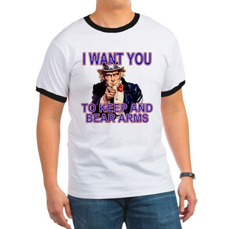 Uncle Sam Keep And Bear Arms Ringer T
