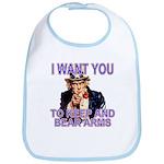 Uncle Sam Keep And Bear Arms Bib