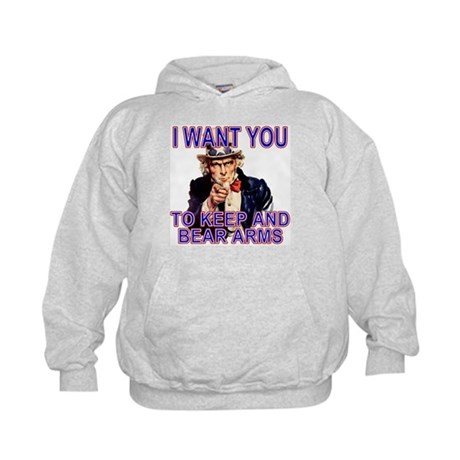 Uncle Sam Keep And Bear Arms Kids Hoodie