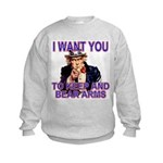 Uncle Sam Keep And Bear Arms Kids Sweatshirt