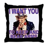 Uncle Sam Keep And Bear Arms Throw Pillow