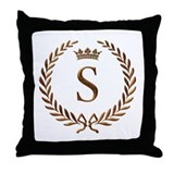 Napoleon initial letter S monogram Throw Pillow
