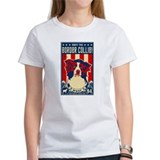 Border Collie Patriotism 2-sided Women's Tee