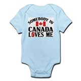 Somebody In Canada Infant Creeper