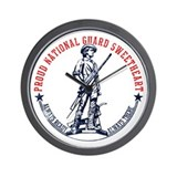 National Guard Sweetheart Wall Clock